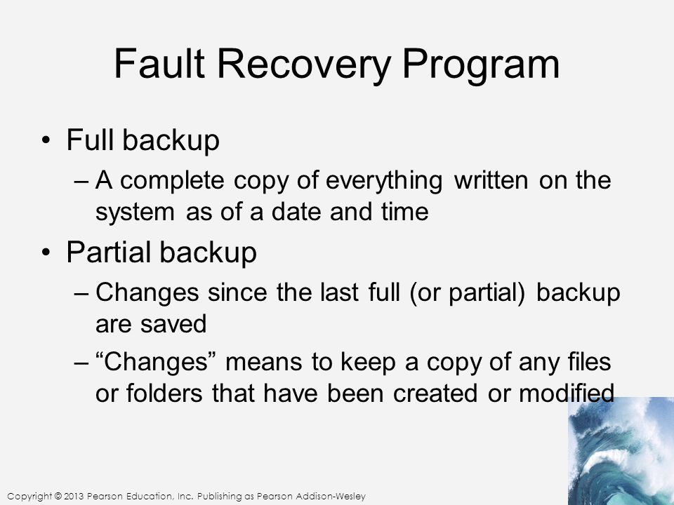 Fault Recovery Program
