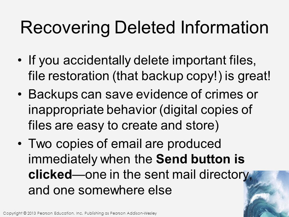 Recovering Deleted Information