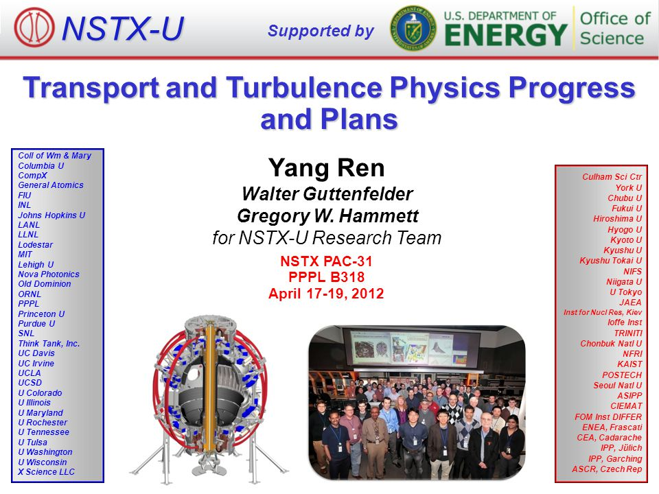 Transport and Turbulence Physics Progress and Plans