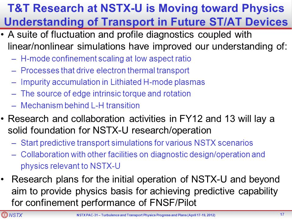 T&T Research at NSTX-U is Moving toward Physics Understanding of Transport in Future ST/AT Devices