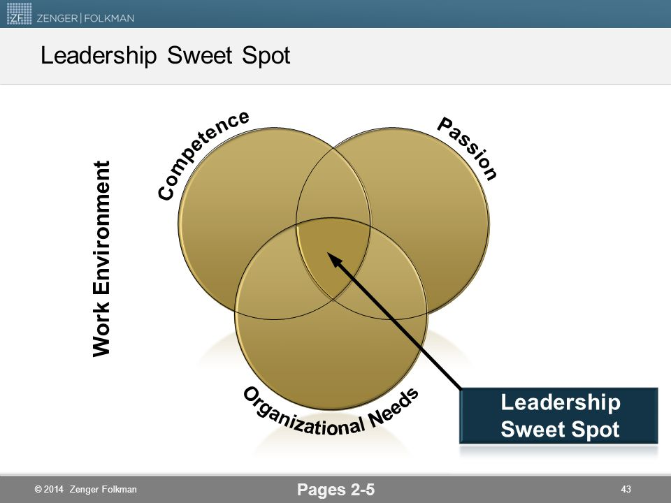 Leadership Sweet Spot Work Environment Leadership Sweet Spot Pages 2-5