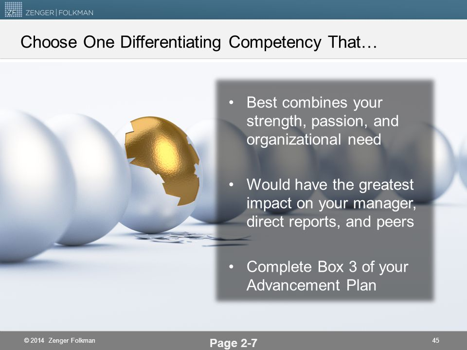 Choose One Differentiating Competency That…