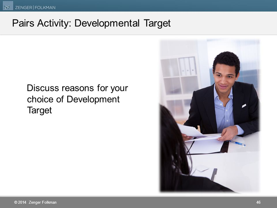 Pairs Activity: Developmental Target
