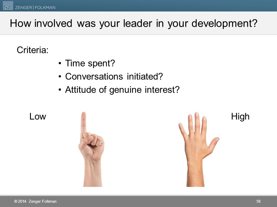 How involved was your leader in your development