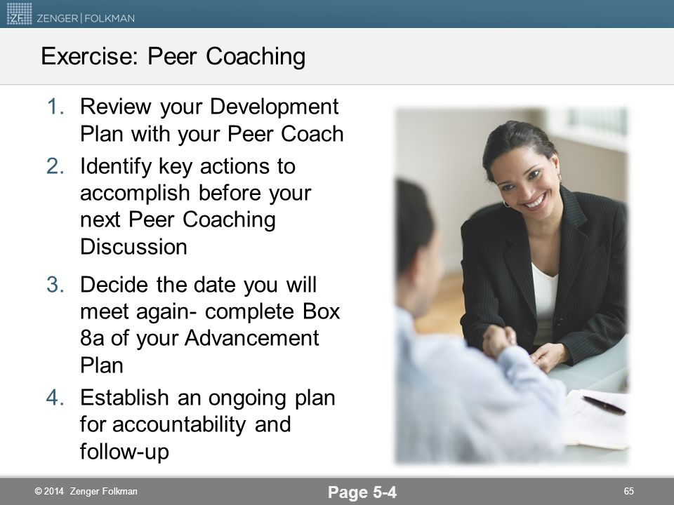 Exercise: Peer Coaching