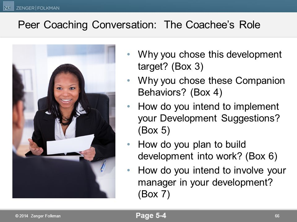 Peer Coaching Conversation: The Coachee's Role