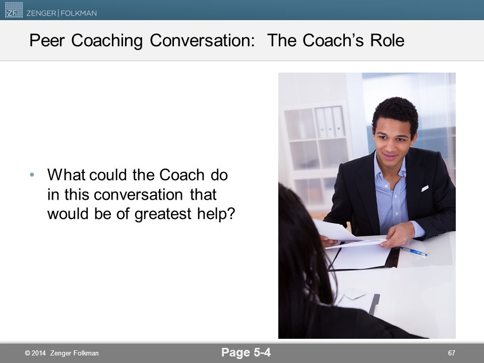 Peer Coaching Conversation: The Coach's Role