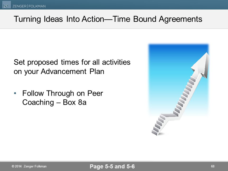 Turning Ideas Into Action—Time Bound Agreements
