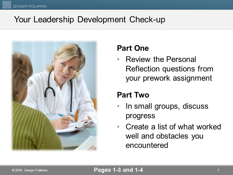 Your Leadership Development Check-up