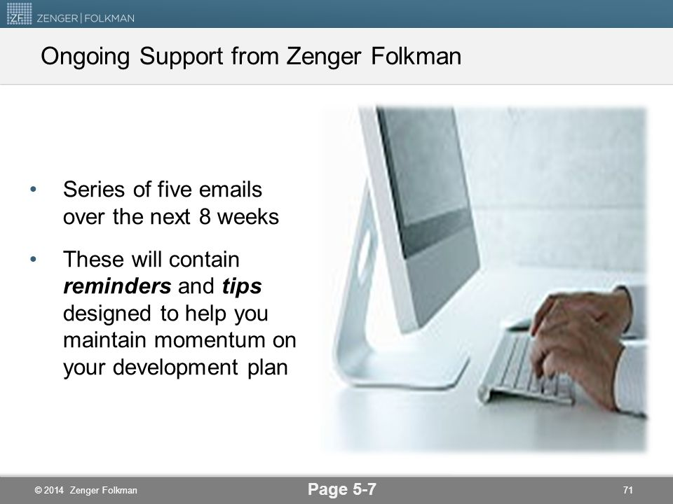 Ongoing Support from Zenger Folkman