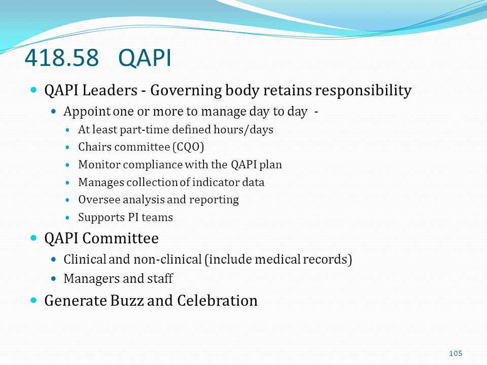 418.58 QAPI QAPI Leaders - Governing body retains responsibility