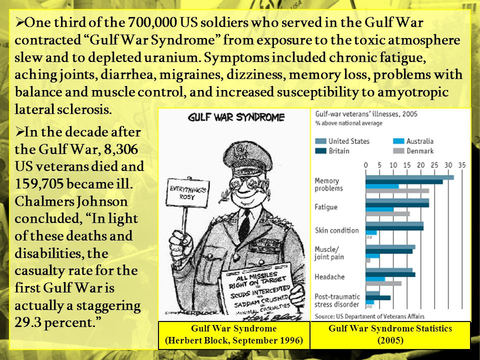 (Herbert Block, September 1996) Gulf War Syndrome Statistics (2005)