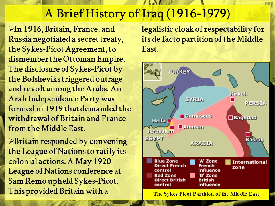 A Brief History of Iraq (1916-1979)