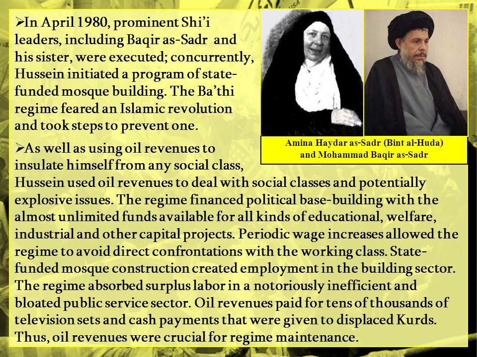 Amina Haydar as-Sadr (Bint al-Huda) and Mohammad Baqir as-Sadr