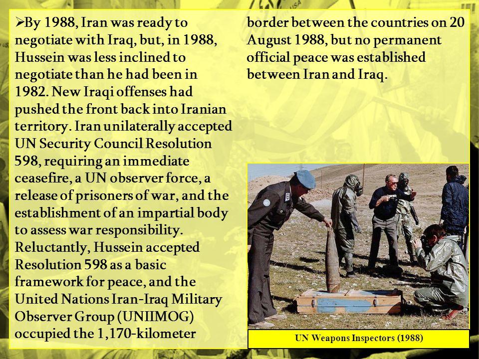 UN Weapons Inspectors (1988)