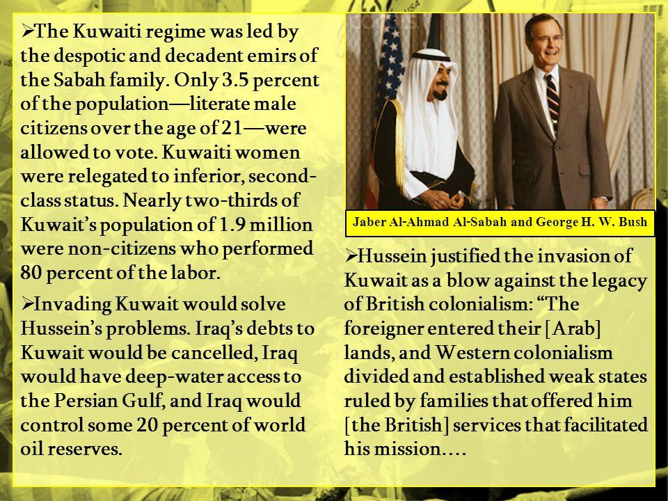Jaber Al-Ahmad Al-Sabah and George H. W. Bush