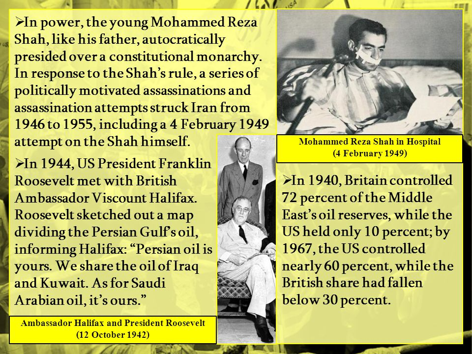 In power, the young Mohammed Reza