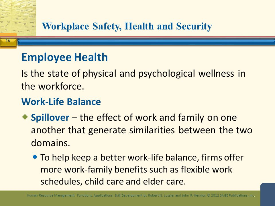 Workplace Safety, Health and Security