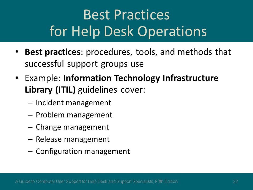 Best Practices for Help Desk Operations