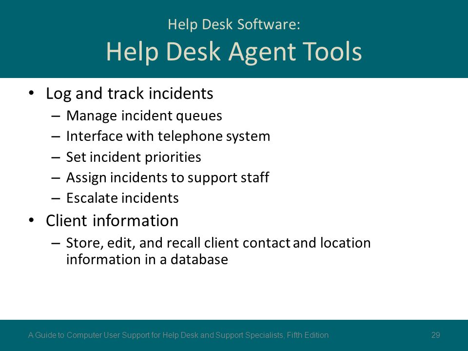 Help Desk Software: Help Desk Agent Tools
