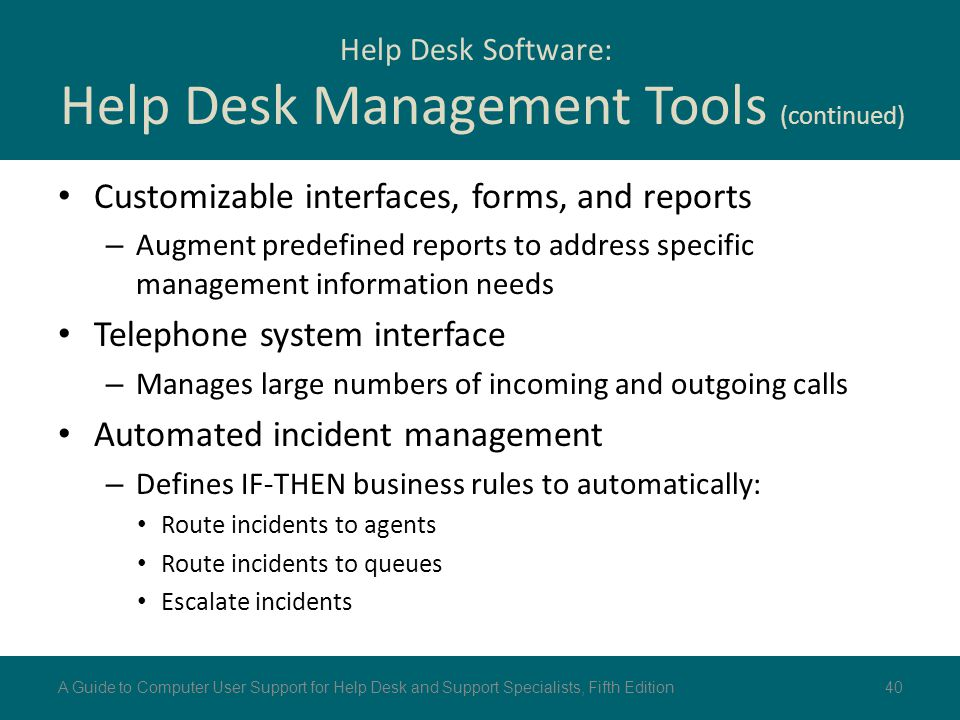 Help Desk Software: Help Desk Management Tools (continued)