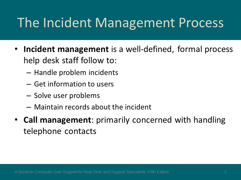 The Incident Management Process