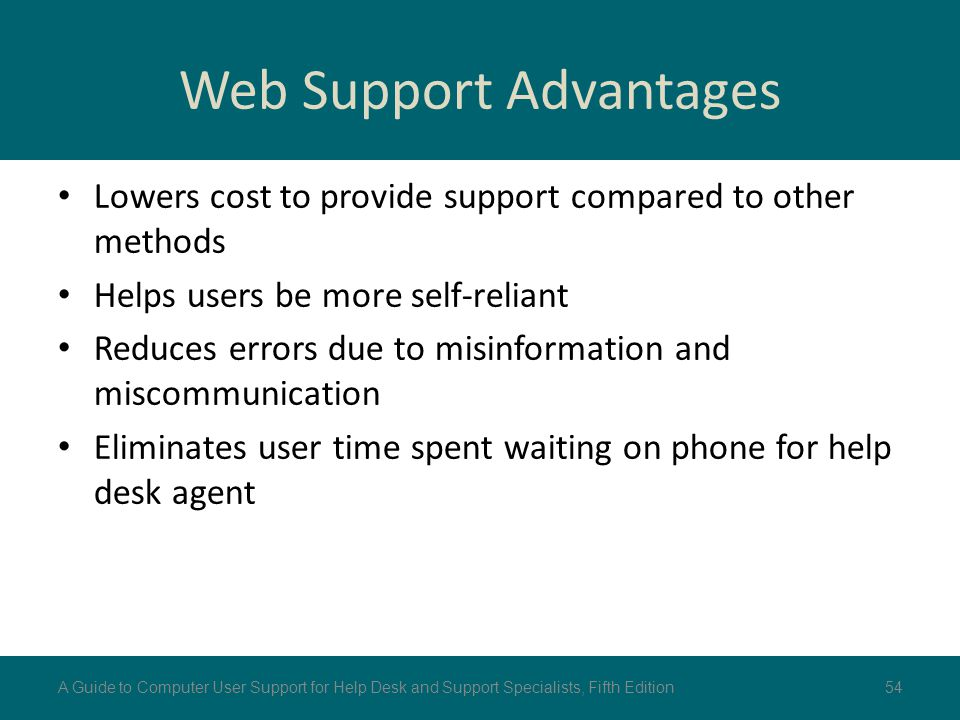 Web Support Advantages