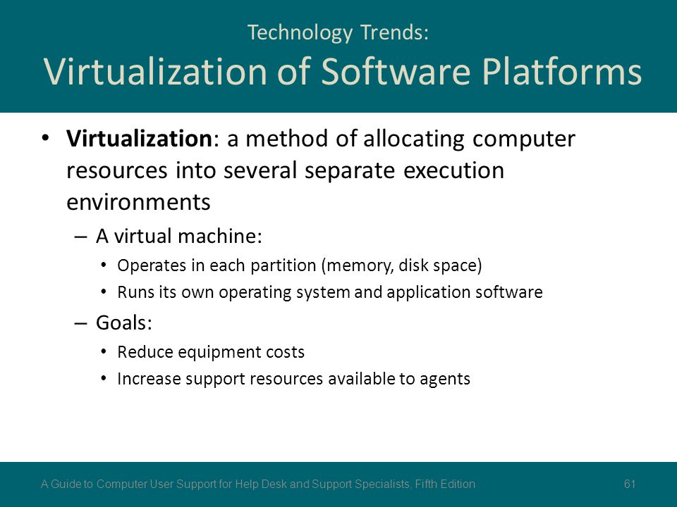 Technology Trends: Virtualization of Software Platforms