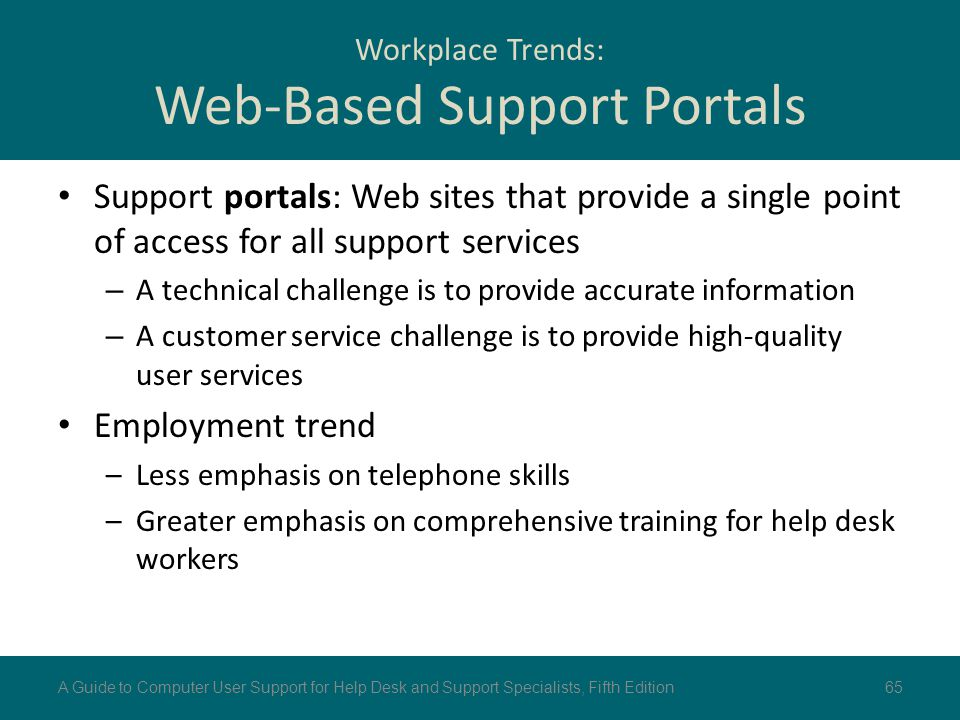Workplace Trends: Web-Based Support Portals