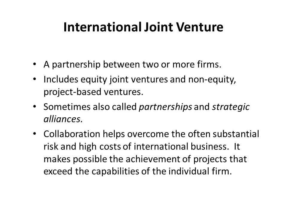 What Is an International Venture?