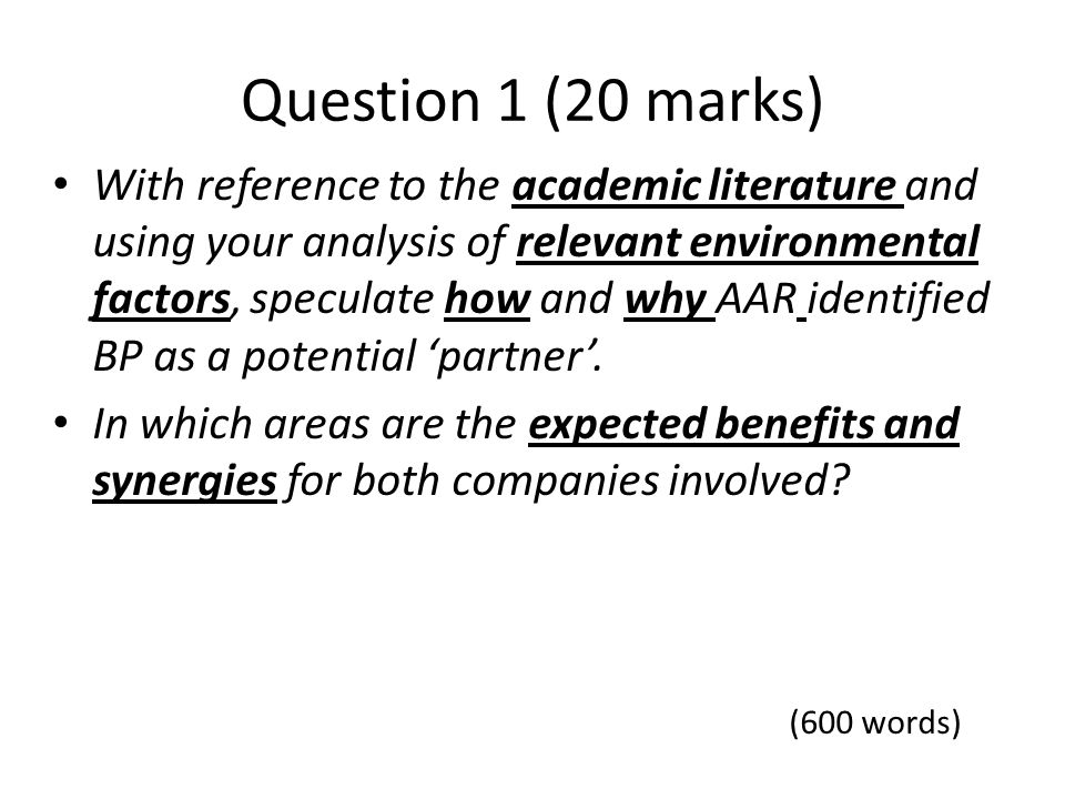 Question 1 (20 marks)