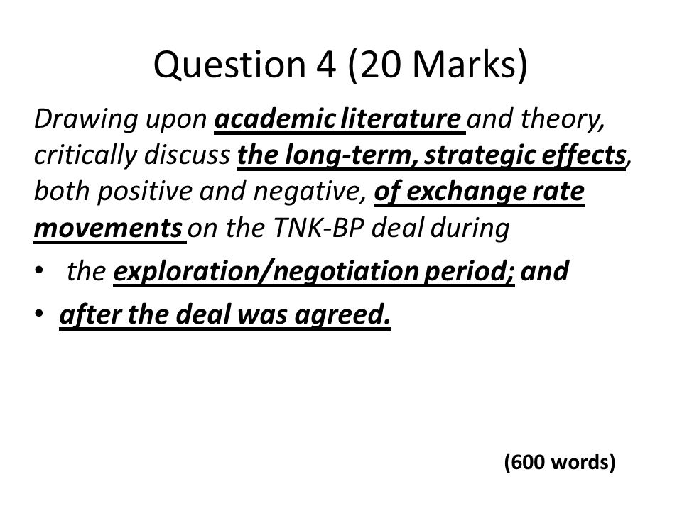 Question 4 (20 Marks)