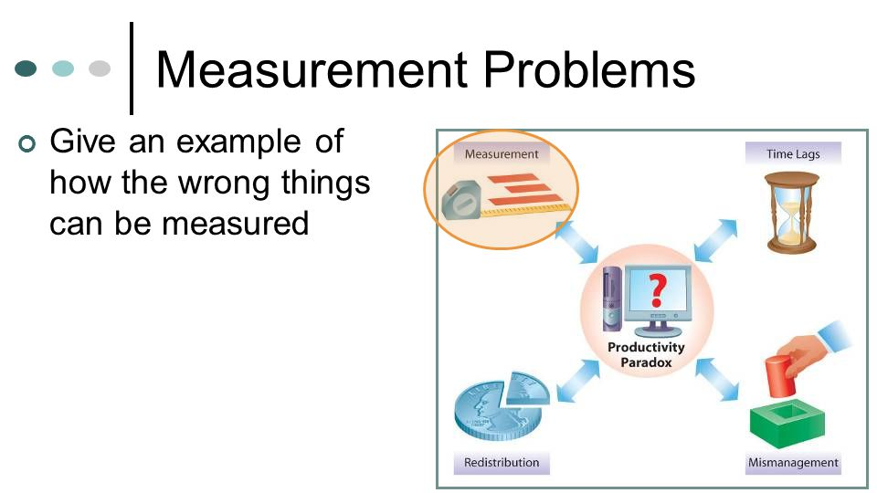 Measurement Problems Give an example of how the wrong things can be measured