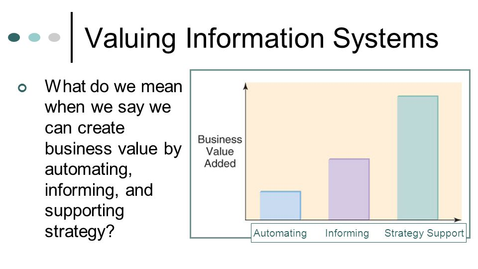 Valuing Information Systems