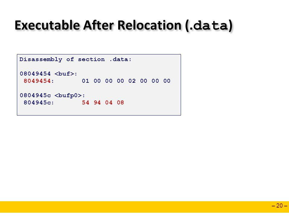Executable After Relocation (.data)
