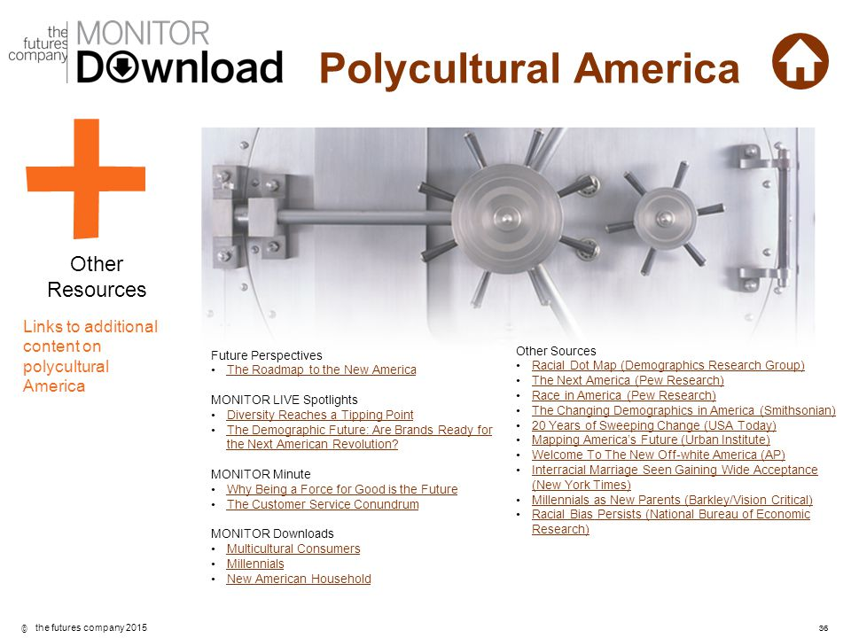 Other Resources Links to additional content on polycultural America