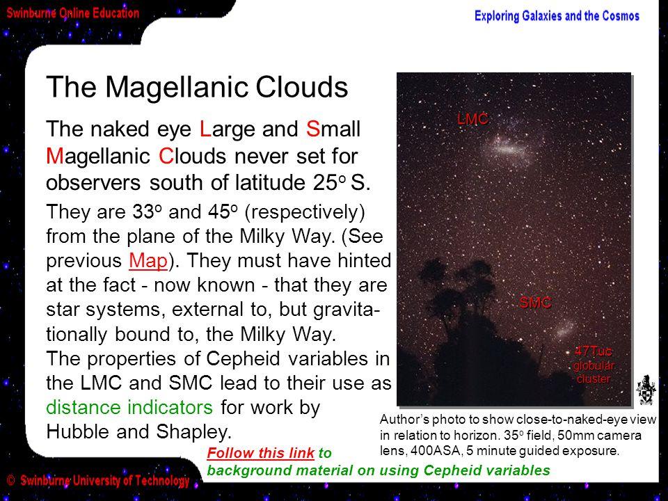 The Magellanic Clouds LMC. SMC. 47Tuc globular. cluster.