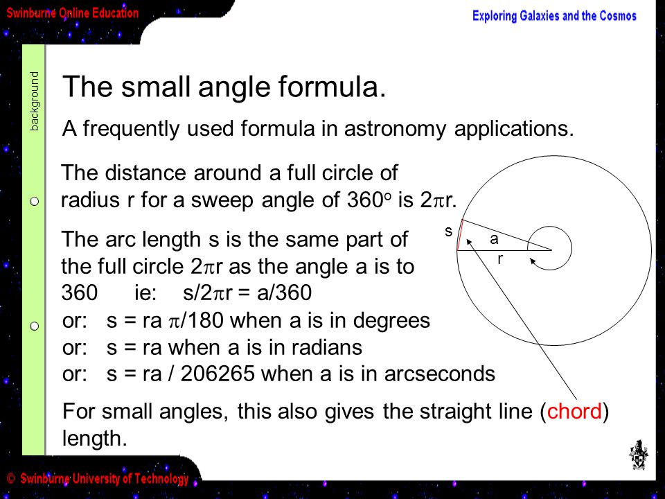 The small angle formula.