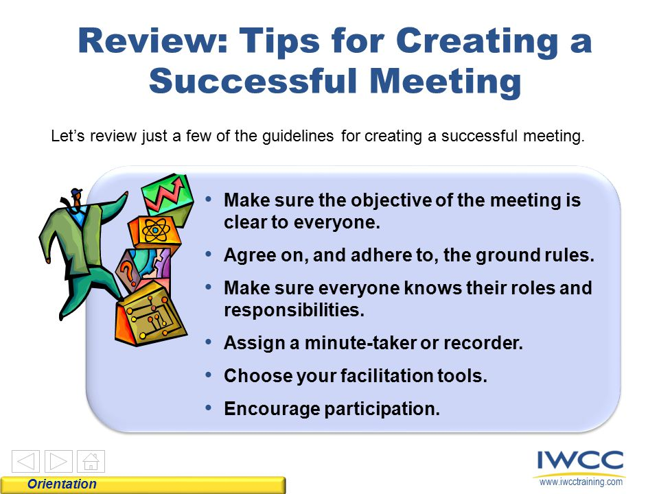 Review: Tips for Creating a Successful Meeting