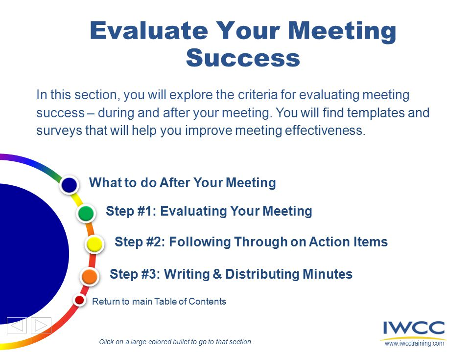 Evaluate Your Meeting Success