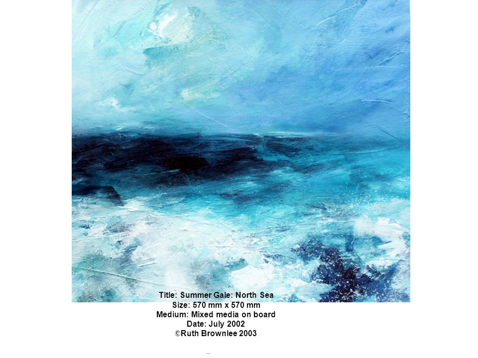 Title: Summer Gale: North Sea Medium: Mixed media on board