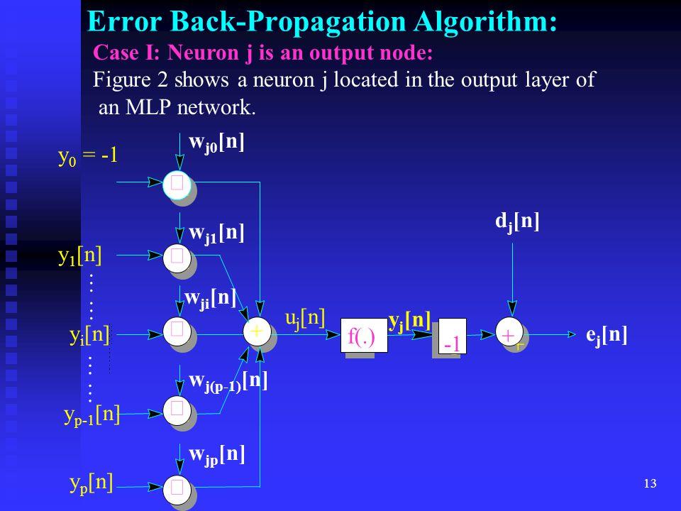 Error Back-Propagation Algorithm: