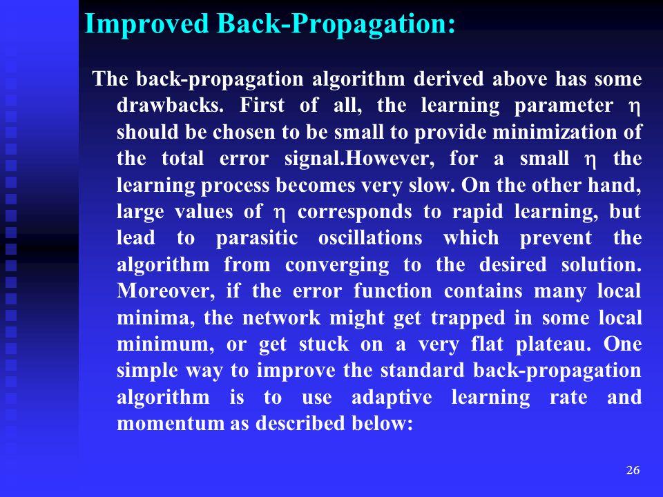 Improved Back-Propagation: