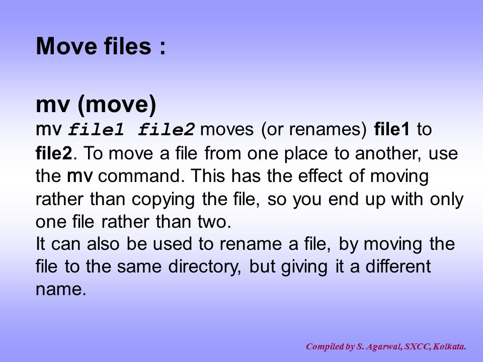 Move files : mv (move)