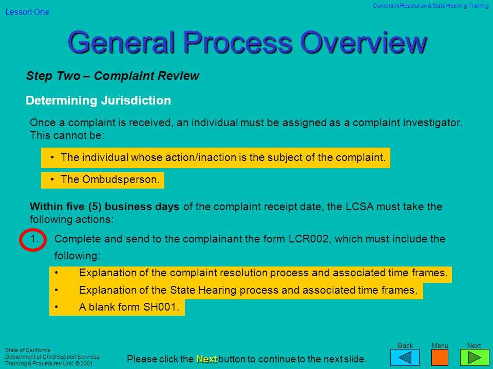 General Process Overview