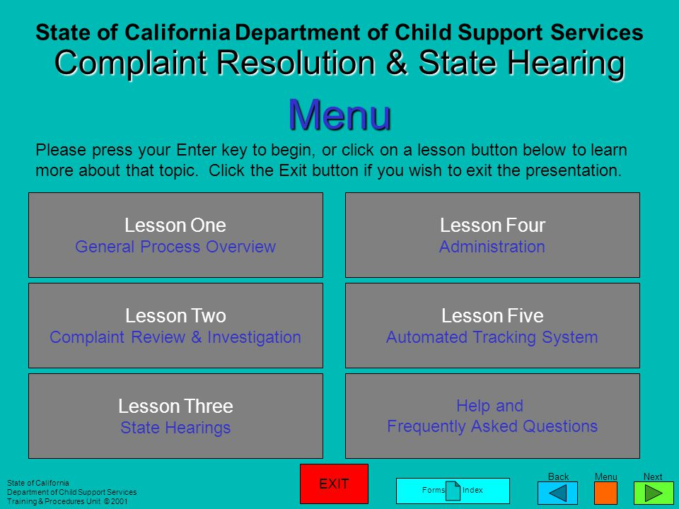 State of California Department of Child Support Services