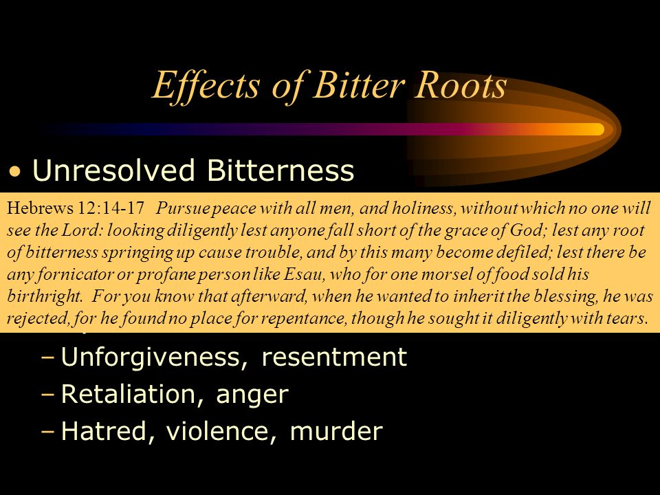 Effects of Bitter Roots