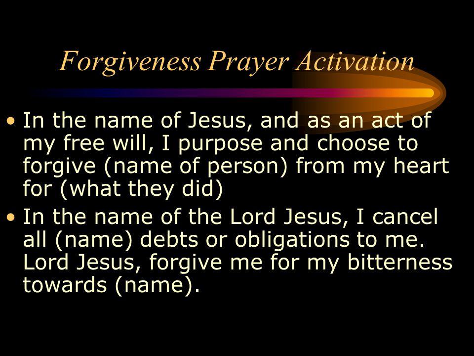 Forgiveness Prayer Activation