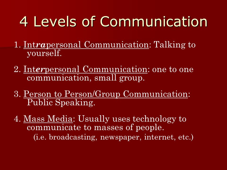 4 Levels of Communication