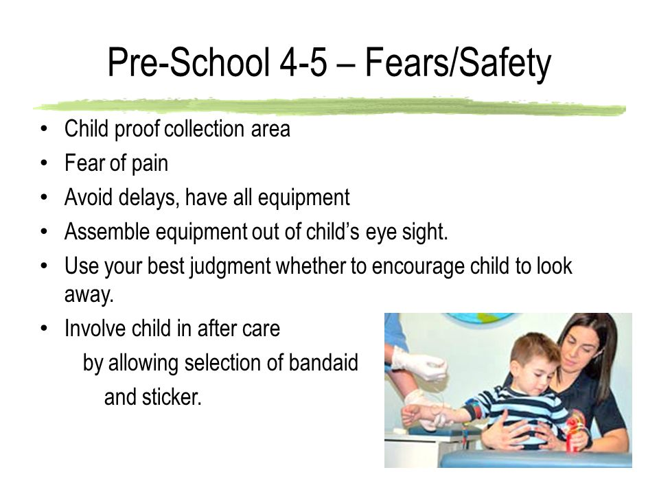 Pre-School 4-5 – Fears/Safety